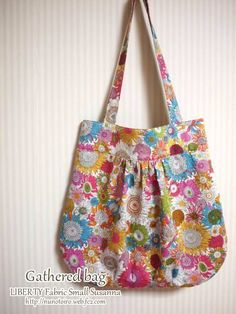 gathered bag pattern and instructions (japanese)