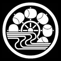 """Japanese family crest """"chuwani mizuni thuchigurma"""""""