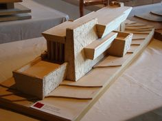 Model. Rose Pauson House. 1939. Phoenix, Arizona. (In 1943, a house fire destroyed the house) Frank Lloyd Wright.