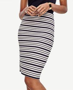 b601c5823f8 Stitchy Striped Sweater Skirt