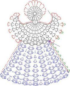 crochet angel pattern/chart