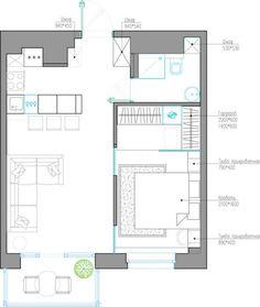 Проект квартиры 41 м2. Дизайн студии Quadro Room - Дизайн интерьеров | Идеи вашего дома | Lodgers