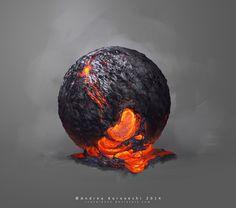 Lava Study, Andi Koroveshi on ArtStation at https://www.artstation.com/artwork/lava-study-6cfc465c-ac12-4c32-a41b-7328a408179b