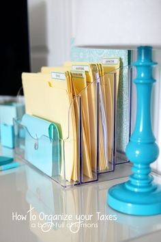 The perfect system to set up and organize your home based business paperwork.  Don't be surprised next year at tax time. Get organized NOW! via A Bowl Full of Lemons (scentsy, origami owl, pampered chef, doterra, thirty one, etc... any small business).