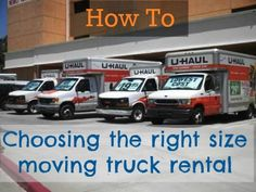 How do you know what size truck rental you need? Read this guide for helpful tips on selecting the right size.