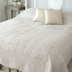 Superking Ivory Quilted Bed Cover - Cream and Neutral Bed Covers Neutral Bedding, Chic Bedding, Neutral Bed Covers, Home Accessories, Shabby Chic, Ivory, Furniture, Bedroom Ideas, Farmhouse