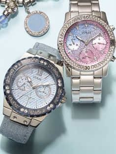 Searching for the perfect Mother's Day gift ideas? Time is on your side! These stylish stainless steel watches by GUESS make a pretty present for the busy mom in your life.