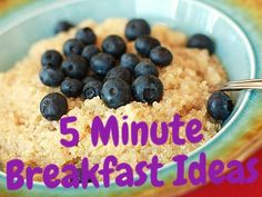 Quick ways to eat healthy in the morning