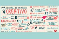 40 formas de mantenerse creativo