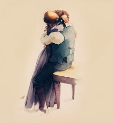 """Jamie & Claire (""""Talk to me, a nighean,"""" he whispered into my tangled hair. """"I'm afraid, and I dinna want to feel so verra much alone just now.  Speak to me."""" (WIMOHB)"""