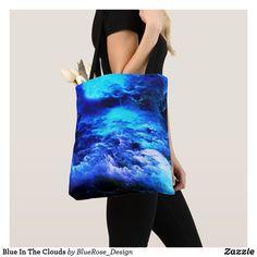 Blue In The Clouds Tote Bag Yoga Accessories, Printed Tote Bags, Artwork Design, Edge Design, Clutches, Purple, Blue, Clouds, Leggings