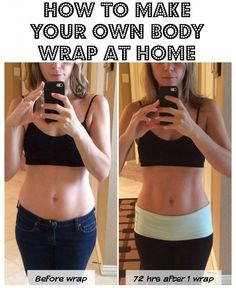 Holy CRAP! This actually worked! The at home body wrap took inches off my mid section...seriously incredible. PIN NOW!