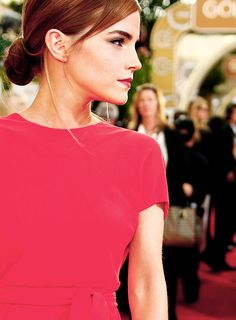 Emma Watson. The Golden Globes. 2014. She is amazing and someone to look out for in the future! The next Kate Winslet!