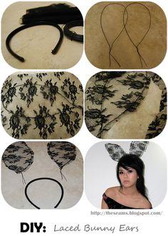 Laced Bunny Ears #DIY