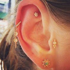 She's got Maria Tash written all over her shiny ear ✨ #diamonds #opal #gold