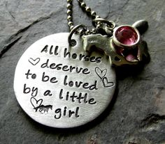 Hand stamped Horse Necklace for by EquineExpressionsbyD on Etsy, $29.00