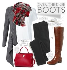"""Fall Footwear: Over-the-Knee Boots"" by mrsjillc ❤ liked on Polyvore featuring Frame Denim, Autumn Cashmere, Madewell, Kendra Scott, DKNY, Maison Margiela, Swarovski, Vince Camuto, Boots and overtheknee"