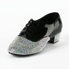 Patent Leather / Rhinestone Upper Latin / Salsa Dance Shoes For Kids / Men Dance Moms Costumes, Ballroom Costumes, Ballroom Dance, Square Dance, Salsa Dance, Dress Shoes, Dance Shoes, Learn To Dance, Keep Fit
