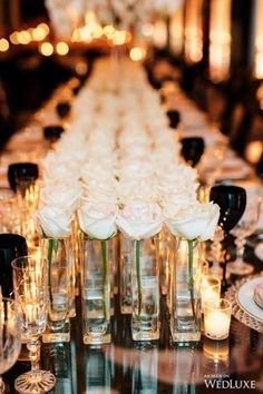 Floral Wedding Centerpieces Planning and Tips - Love It All Gold Wedding, Floral Wedding, Wedding Flowers, Dream Wedding, Wedding Day, Wedding Rings, Protea Wedding, White Roses Wedding, Flower Centerpieces