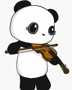 Panda Playing The Violin