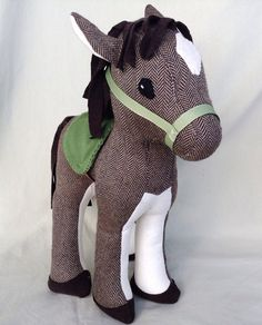 These hand made horses are lots of fun, and sturdy enough for even the littlest hands to play with. They stand at 14 inches tall, and are made