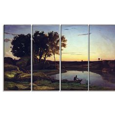 Design Art 'Camille Corot - Landscape with