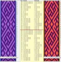 24 tarjetas, 3 colores, repite cada 26 movimientos / sed_770 diseñado en GTT༺❁