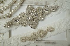 SALE Wedding Garter Set Bridal Garter Set Vintage by OneFancyDay