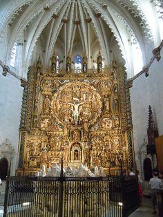 Retablo de Gil de Siloé en la Cartuja de Miraflores (Burgos)