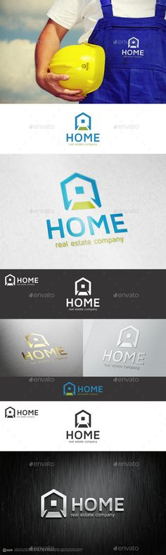 Home Real Estate Company Logo — Vector EPS #logo template #estate logo • Available here → https://graphicriver.net/item/home-real-estate-company-logo/10965417?ref=pxcr