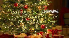 """""""La #Magia de la #Navidad ocurre cuando haces brillar tu #Hogar"""". @candidman #Frases #Tarjeta #Portada #GooglePlus"""