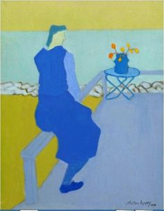colin-vian: Milton Avery - Blue Figure - Blue Sea, 1945. Oil on canvas, 36 x 28 in. (91.4 x 71.1 cm).