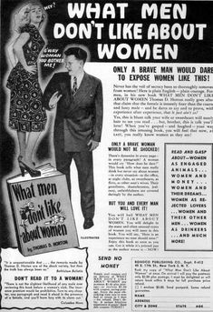 "advertisingpics:    ""What Men Don't Like About..."