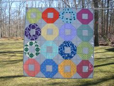 Colorful Shoofly lap/baby quilt by Kathy512 on Etsy, $85.00 Design ide