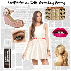 """""""What I'm Wearing to my 15th Birthday Party"""" by chloebouwxx ❤ liked on Polyvore"""