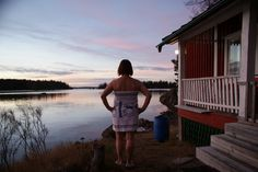 SISU och jag i stugan i Vasa.