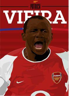Patrick Vieira @BRANDONGFX Arsenal Fc, Arsenal Football, Football Art, Patrick Vieira, David Villa, Great Team, Fc Barcelona, Fifa, Legends