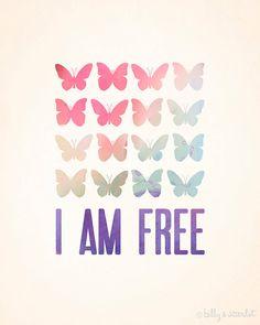 I Am Free Quotes Freedom on Pinterest |...