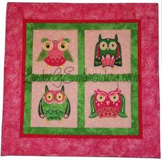 Tips for Cutting Fabric Appliques with the Brother Scan n Cut - What a Hoot applique owls wall hanging