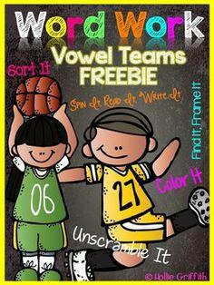 *FREEBIE* Vowel Teams Interactive Word Work - oi & oy
