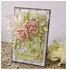 8 Attentive Clever Hacks: Vintage Shabby Chic Home vintage shabby chic home.Shabby Chic Home Beautiful Bedrooms shabby chic crafts display. Shabby Chic Office, Shabby Chic Chairs, Shabby Chic Karten, Carillons Diy, Shabby Chic Background, Heartfelt Creations, Pretty Cards, Flower Cards, Paper Flowers