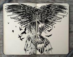 #166 A Feast for Crows by 365-DaysOfDoodles.deviantart.com on @deviantART