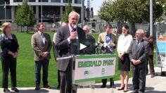 OZ Erickson Celebrates New Emerald Park in Rincon Hill, San Francisco.
