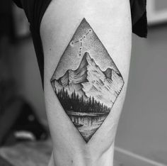 Mountain Tattoo by Tomtom #LandscapeTattoo