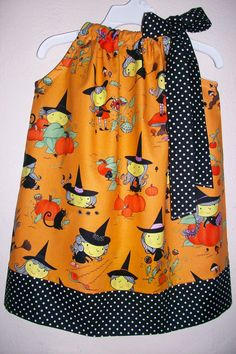 Pillowcase Dress Halloween Gwendolyn by lilsweetieboutique on Etsy