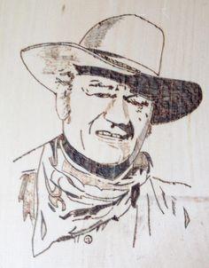 John Wayne John Wayne, Wood Crafts, Black And White, Art, John Wayne Gacy, Black White, Blanco Y Negro, Kunst, Woodworking Crafts