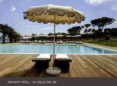 Relax on the #infinity #pool deckchair at #lavilladelre #sardinia www.lavilladelre.com