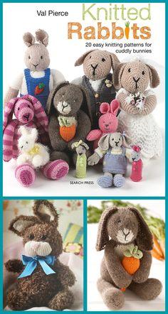 """4ply COPY toy knitting pattern BUNNY 19/"""" /& 10/"""""""