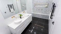 Image result for sasha and julia the block bathroom
