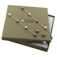 Honora Box Set Sterling Silver Purple Tin Cup Pearl Necklace 18 inch And Purple Pearl Drop Earringshttp://www.bengarelick.com/collections/honora-pearls/products/honora-box-set-sterling-silver-purple-tin-cup-pearl-necklace-18-inch-and-purple-pearl-drop-earrings